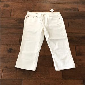 J.Crew White Cropped Jeans. Size 31. NWT.